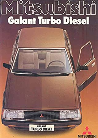 Amazon.com: 1982 Mitsubishi Galant Turbo Diesel Brochure German: Entertainment Collectibles