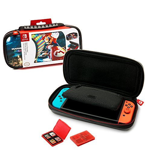 - Nintendo Switch Mario Kart 8 Deluxe Carrying Case - Protective Deluxe Travel Case - PU Leather Exterior - Official Nintendo Licensed Product