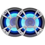 Clarion Corporation of America CMQ1622RL Marine Coaxial Speaker with Built-in Blue LED Light 6.5