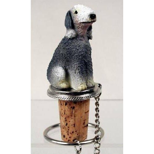 Bedlington Terrier Figurine (Bedlington Terrier Dog Bottle Buddy (3 in))