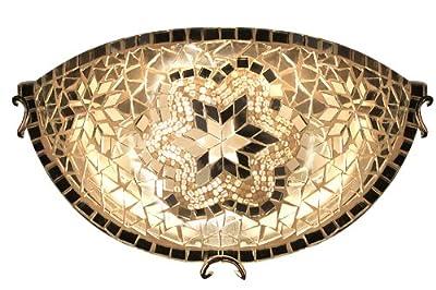 ON SALE Art-Win Lighting W10030-1/2 White Handmade Turkish Mosaic Wall Sconce Lamp