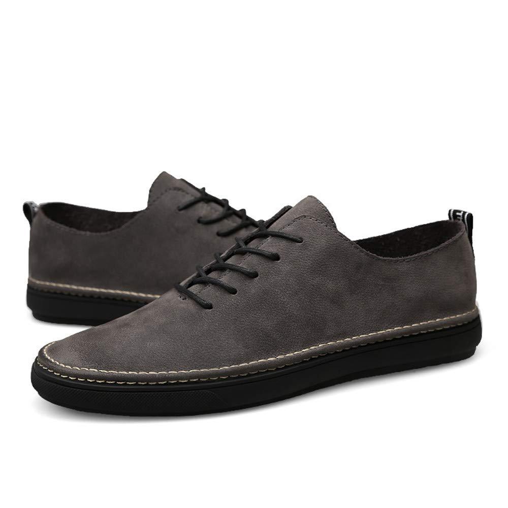 gris Shuo lan hu wai Chaussure à Lacets à Bout Rond à Talon Plat à Talon Plat léger pour Homme,Chaussures de Cricket (Couleur   gris, Taille   44 EU) 37 EU