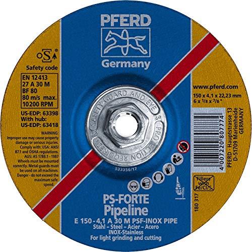 PFERD 63418 6'' x 1/8'' Pipeline Wheel, 5/8-11 Thd. (4.1mm) A 30 M (10pk)