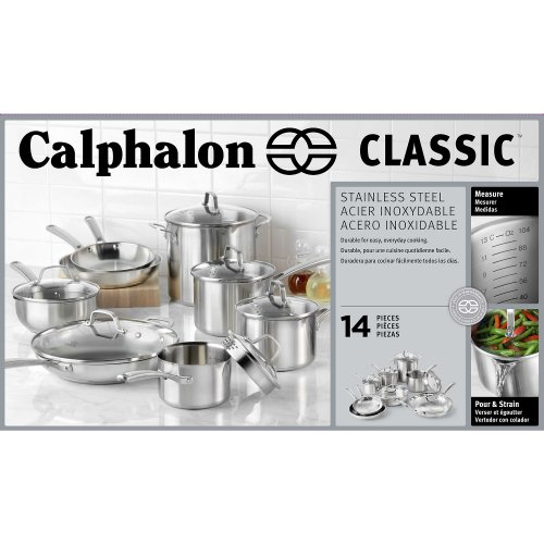 Calphalon Classic Stainless Steel Cookware, Set, 14-Piece