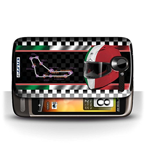 Etui / Coque pour HTC Desire G7 / Italie/Monza conception / Collection de F1 Piste Drapeau