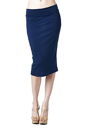 27601df4ee31 Azules Women's below the Knee Pencil Skirt at Amazon Women's Clothing store: