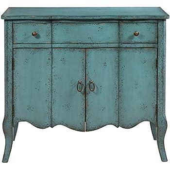 this item pulaski p017011 distressed turquoise accent chest blue