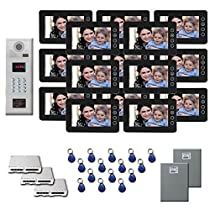 Multi Tenant Video Entry 15 7 color monitor door panel kit
