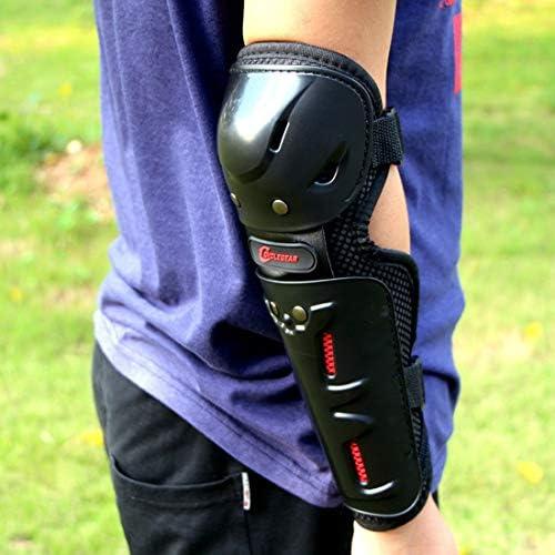 LilyAngel オートバイモトクロスサイクリング肘と膝パッドプロテクターガードアーマーライドサイクリングスケーティングスキー4個セット (Color : ブラック)