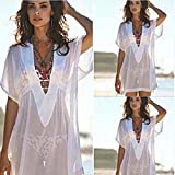 Coohole New Fashion Summer Women Chiffon Cover Up Swimsuit Swimwear Beach Shirt Dress Bathing Suit
