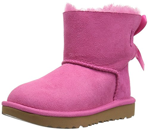 UGG Girls T Mini Bailey Bow II Pull-on Boot, Pink Azalea, 12 M US Little Kid (Pink Bows Uggs)