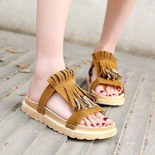 Sandali casual versione estate Brown coreana nuova calzature XIAOGEGE di donna daYqwYR