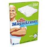 Mr Clean Magic Eraser Bath Scrubber with Febreze Fresh Scent Meadows and Rain 2 Count (Pack of 16)