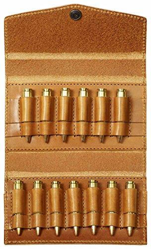 Fjällräven Ammo Case - Praktische Munitionstasche aus pflanzlich gegerbtem Leder. Kompaktes Format, Gürtelschlaufe an der Rückseite und Platz für fünf Kugeln und vier Patronen. Leather Cognac