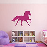 CustomVinylDecor Prancing Horse Wall Decal - Girl
