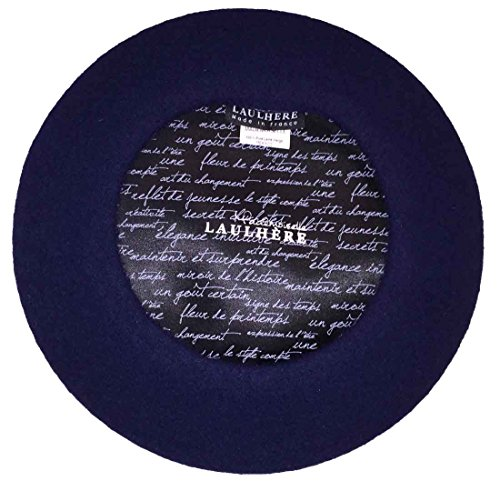 Laulhere Mademoiselle Traditional French Wool Beret, Navy