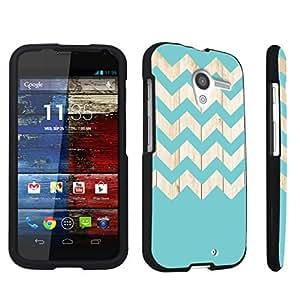 DuroCase ? Motorola Moto X 2013 First Generation Hard Case Black - (Wood Chevron)
