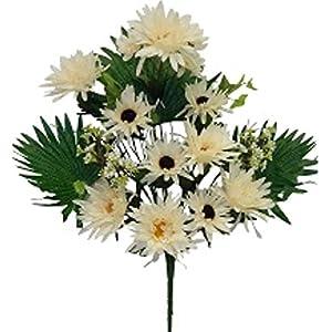 "20"" Gerbera Daisy Bush Silk Wedding Flowers Bouquet Decor (Cream) 102"