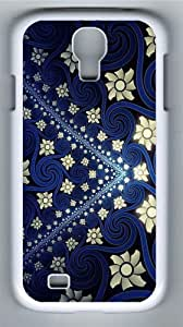 Flowers And Swirls PC Case Cover for Samsung Galaxy S4 and Samsung Galaxy I9500 White