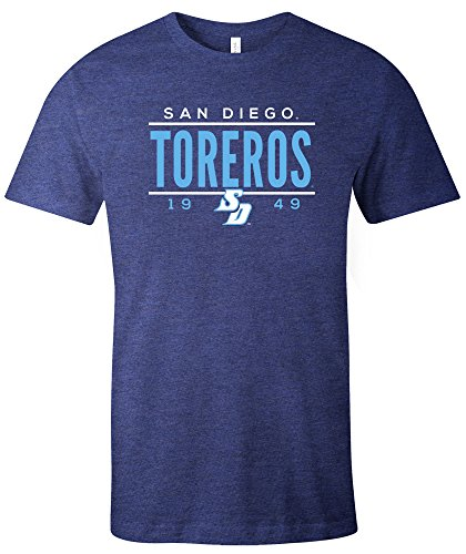 NCAA San Diego Toreros Tradition Short Sleeve Tri-Blend T-Shirt, Navy,X-Large