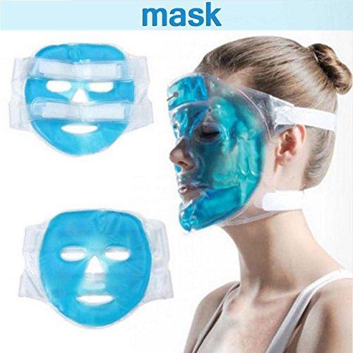 Máscara de hielo de refrigeración, máscara de hielo congelable y reutilizable, apta para ojos esponjosos y círculos oscuros y alivio de estrés: Amazon.es: ...