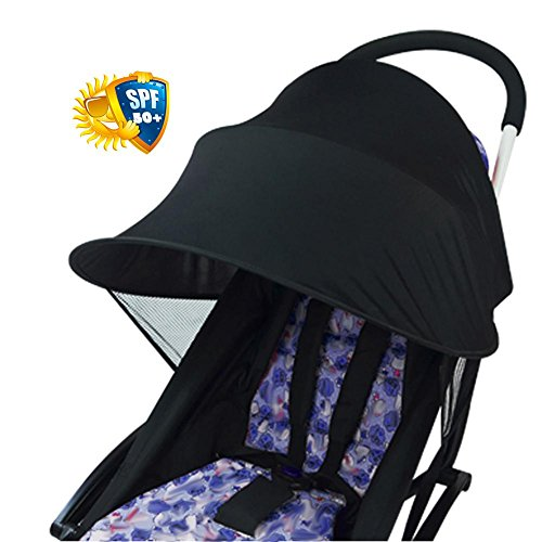 Rayshade Baby Stroller Sunshade Cover Anti-UV Awning Umbrella Canopy Sun Protection,Stroller seat Breathable Baby Sleep Mosquito Net Sun Shield Protection Universal Accessories for - Protection Uv Rayshade
