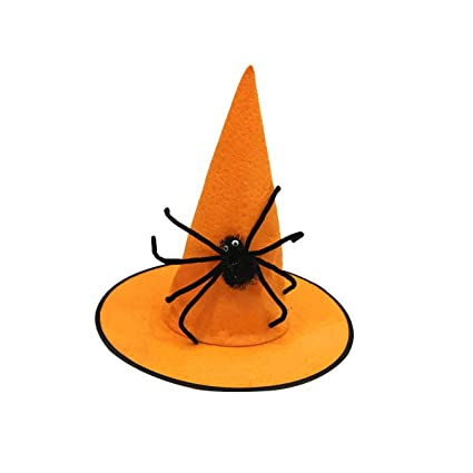17f7ed7ebf4 Buy Amosfun Wizard Hat Halloween Costumes Party Cosplay Costume Dress up  Accessories Props (Orange Spider) Online at Low Prices in India - Amazon.in