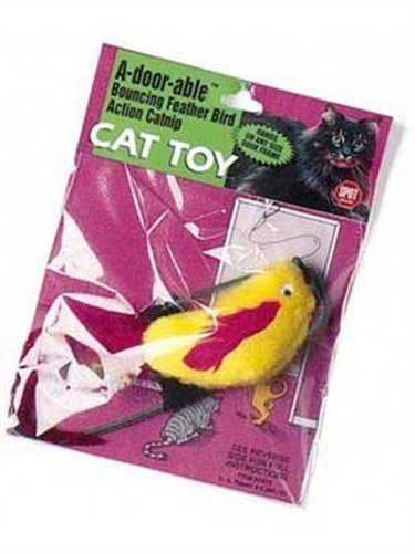 Ethical A-Door-Able Plush Bird Cat Toy with Feathers, My Pet Supplies