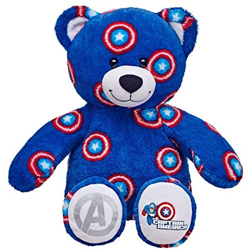 Build-a-Bear Workshop Captain America Teddy Bear, 16 - America Bear Teddy