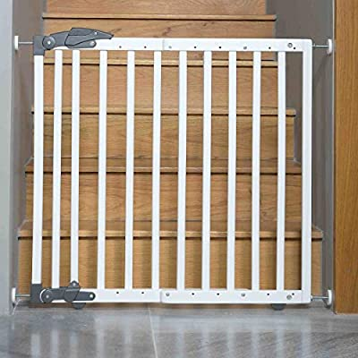Geuther Türschutzgitter zum Einklemmen und Schwenken 68-102 cmm Höhe 75 cm