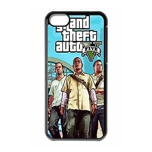 Cute TPU Case GTA 5 Trevor Franklin and Michael iPhone 5c Cell Phone Case Black