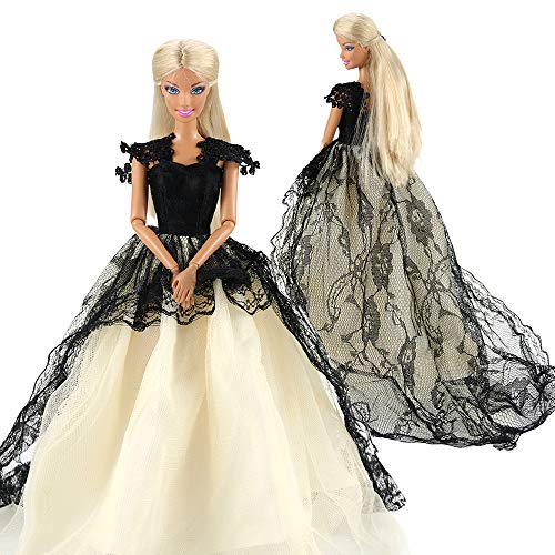 - BARWA Princess Evening Party Clothes Wears Train Wedding Gown Dress Outfit for 11.5 inch Doll Gift