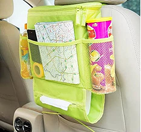 Minivan,Trunk and Jeep Green UrCool Car Seat Organizer,Auto Seat Back Organizer,Multi-Pocket Travel Storage Bag Bottle Drinks Holder with Cooler Heat-Preservation for Car,SUV