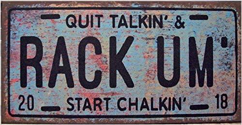 ArthuereBack Rack Um Billar, Bar Pub, Placa de Licencia de ...