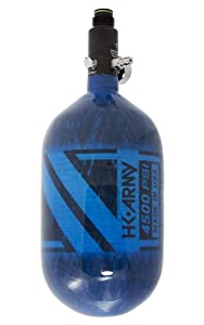 HK Army Aerolite Carbon Fiber HPA Paintball Tank Air System - 68ci / 4500psi (Blue)