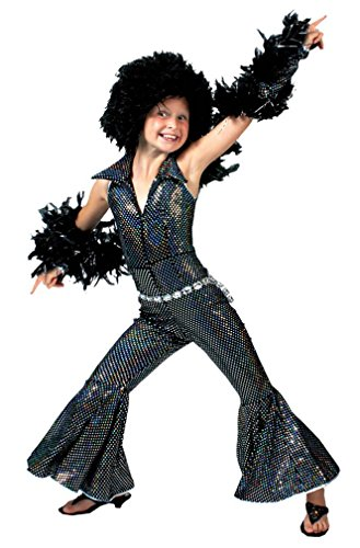 Girls Disco Boogie Halloween Costumes Large 12-14