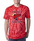 "Silo Shirts TIE DIE Red Los Angeles ""Trout Season"" T-Shirt"