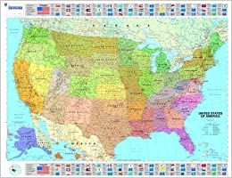 Michelin Map USA Political 14761 (p, Rolled) (Maps/Wall (Michelin ...