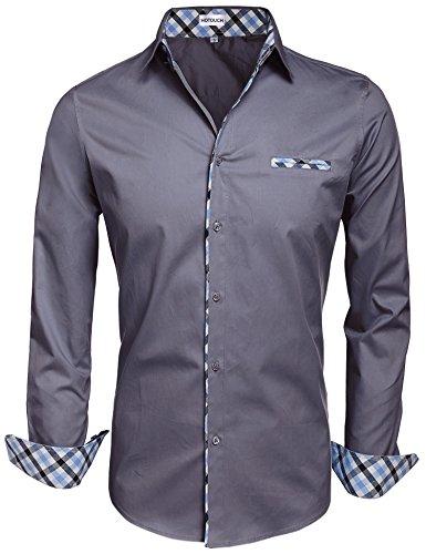 Long Sleeve Fashion Dress Shirt - 6