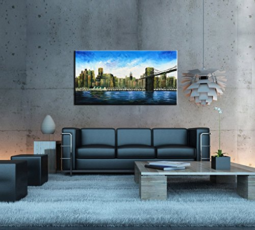 baccow 2448'' Modern Abstract Painting Wall Decor Landscape Paintings Oil Hand Painting 3D Wall Art On Canvas Abstract Artwork Art Wood Inside Framed Hanging Wall Decoration by baccow (Image #5)