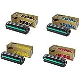 Samsung Part# CLT-C506L. CLT-K506L. CLT-M506L. CLT-Y506L Toner Cartridge Set (OEM)