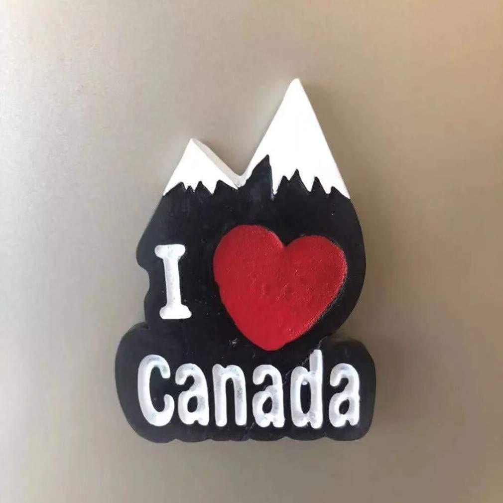 Magneti per Frigorifero/Calamite da Frigo Viaggio Fridge Magnet Sticker Souvenir del Canada Andorra Cervo Delfino Sci Montagna di Neve Bandiera