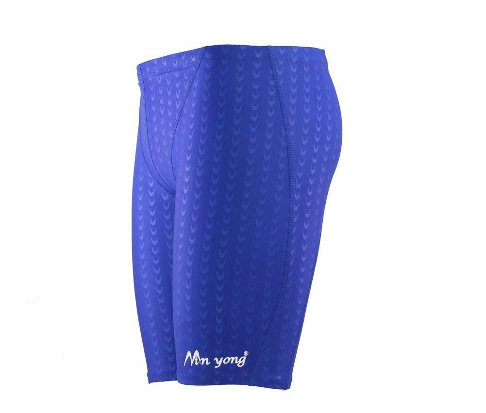 Hysenm, Costume da bagno Jammer da ragazzo, da competizione, 280 g/m², Hydrodynamisme Ultra elastico Mingyong