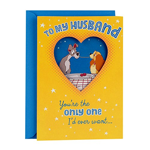 Hallmark Funny Father's Day Greeting Card for Husband or Significant Other (Disney Lady and the Tramp)