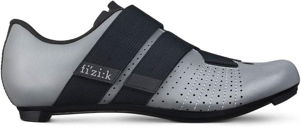 41.5 Fizik Unisexs Tempo Powerstrap R5 Cycling Shoe Reflective Grey Black