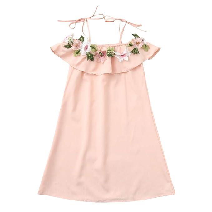 b10096a7347704 MCYs Mama Tochter Kleinkind Baby Kinder Mädchen Floral Riemen Kleid Outfits  Familie Kleidung Sommerkleid Kleidung Minikleid
