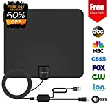 Agedate TV Antenna, HD Digital TV Antenna, Best 50 Miles Long Range High-Definition with HDTV Amplifier Signal Booster for Indoor, Free Local Channels for Life