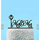 Lesbian Wedding Cake Topper -Skelton Key Cake Topper-Mrs and Mrs Cake Topper- Custom Mrs & Mrs Surname Cake Topper - Same Sex Cake Topper