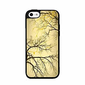 Autumn Trees TPU RUBBER SILICONE Phone Case Back Cover iPhone 5c includes diy case Cloth and Warranty Label