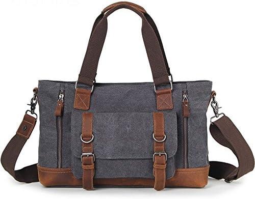 Casual Business Briefcase Shoulder Messenger Messenger Bag Color : Blue